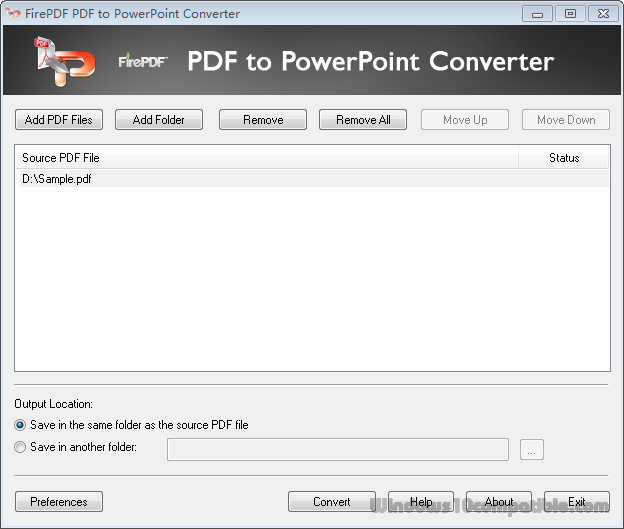 FirePDF PDF to PowerPoint Converter 12 0 Free download